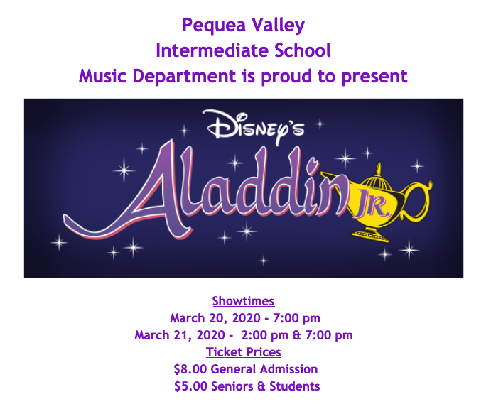 Tickets Available for Aladdin Jr.