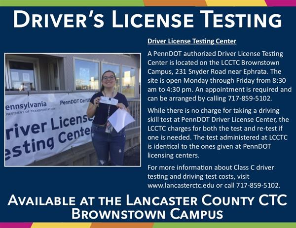 driver's license test information