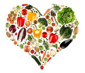 veggies in a heart shape