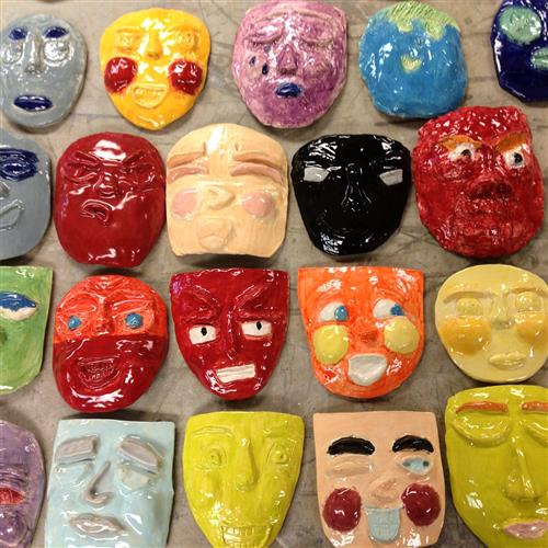 Ceramic Expressive Faces